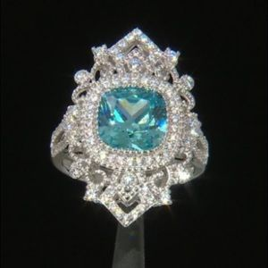 Jewelry - ** SOLD ** Vintage Style Ring Diamond Simulated